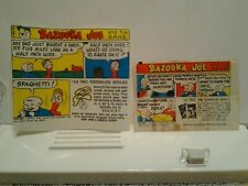 Set Of 2 1960 and 1962 Bubble Gum Wrappers Inserts Topps Bazooka Joe