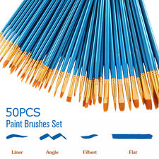 50Pcs Set Artist Paint Brushes Set Art Painting Supplies Acrylic Oil Paintings
