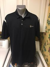 NIKE Golf Dri Fit Men's Black XL Golf Polo Shirt Scout.com Logo