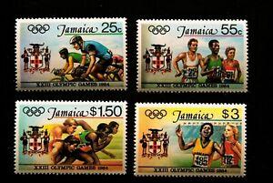 JAMAICA 1984 OLYMPIC GAMES SET MNH