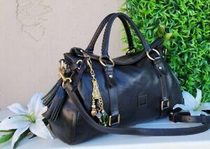 Dooney & Bourke MD/LG florentine BLACK Satchel leather purse handbag shoulder