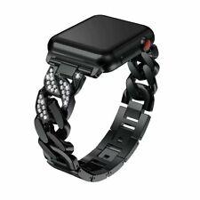 JewelTech 4 - Women Apple Watch Strap - Braided Pattern and Zircon Studded