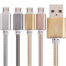CAVO IN ACCIAIO RICARICA TRASFERIMENTO DATI SMARTPHONE ANDROID PC USB RESISTENTE