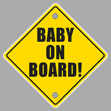 BABY ON BOARD WARNING SAFETY SIGN 12cm AUTOCOLLANT STICKER (BA016)