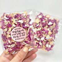 PINK Rose Petal Natural Biodegradable Wedding Confetti Dried Petal Bags PACKETS