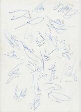 Germania EUROPEI 1996 vincitori originale firmato a mano foglio 18 x firme
