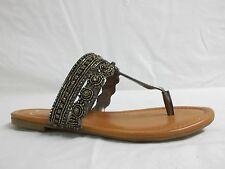 Jessica Simpson Size 6 M Roelle Pewter Flip Flops Sandals New Womens Shoes NWOB