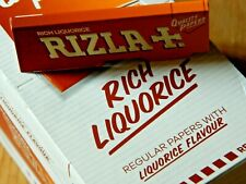 Rizla Liquorice Flavour Cigarette Smoking Rolling Papers. 100% Genuine  stock.