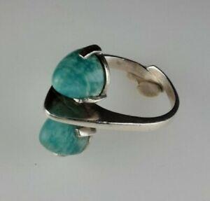 Designer 💎 Edelstein Ring 925 Sterling Silber Modernist Vintage