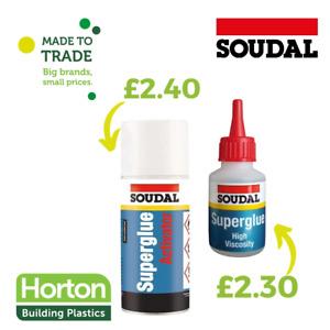 Soudal high viscosity super glue & Superglue Activator