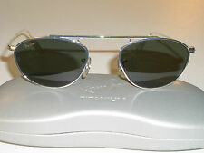 VINTAGE B&L RAY BAN SLEEK SILVER G15 SMALL MODIFIED AVIATOR SUNGLASSES MINT