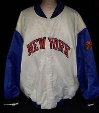 NEW YORK KNICKS NBA Satin Jacket Quilted White Reebok Jacket Coat Mens SIZE 4XL