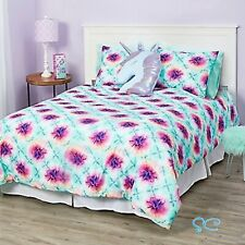 Justice Girls Tie Dye 7 Piece Bed In A Bag Queen Size Comforter Set Nwt