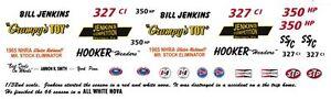 Bill Jenkins Grumpy's Toy Nova 1/64th Scale Slot Car Decals DRAG NHRA