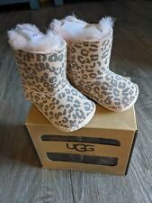 UGG Cassie Leopard Baby Boots Size 0/1 0-6month's