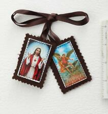 St. Michael Archangel Scapular with Sacred Heart of Jesus