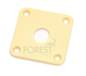 Jack Plate Square Gibson Les Paul Style Crema Plastic