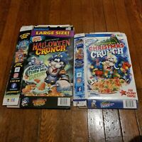 2020 Cap'n Crunch Halloween & Christmas Cereal Limited Edition boxes only