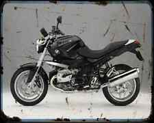 Bmw R 1200 R 07 A4 Metal Sign Motorbike Vintage Aged