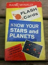 Vintage Stars And Planets Flash Cards . Rand Mcnally