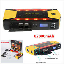 Portable 82800mAh Car Jump Starter Emergency Charger Booster Power Bank Battery
