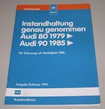 Werkstatthandbuch Audi 80 Typ 81 / 85 Baujahre ab Modelljahr 1986 Instandhaltung