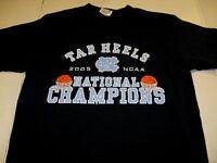 North Carolina TAR HEELS Basketball 2005 NCAA National Champions T-Shirt  MEDIUM