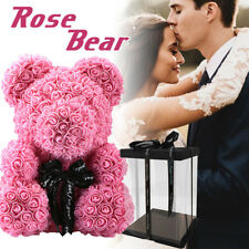 38CM Pink Rose Bear Art C rafts New Style Creative Valentine's Day With Giftbox