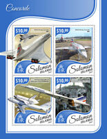 Solomon Islands Aviation Stamps 2017 MNH Concorde British Airways 4v M/S