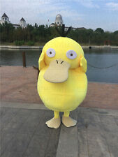 Halloween Pokemon Go Psyduck Mascot Costume Cosplay game party Fancy Dress Adult