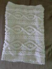 Mens Ladies Unisex H&M Cream Aran Style Knitted Neck Gaiter