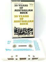 20 Years of Australian Rock Music Audio Cassette Tape Mushroom C27108