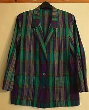Ladies Vintage Jacket Blazer 100% Cotton Size 12 M&S St Michael - FREEPOST