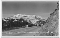 "1930s RPPC ""Mt. Eddy"" Old Car Mt. SHASTA Lake Tahoe California by J.H. Eastman"