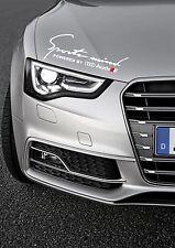 Audi Sports Mind sticker White decal logo S-line Q7 A3 A6 A8 A4 RS Q5 RS4