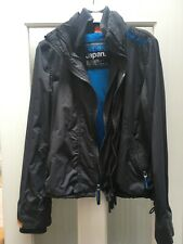 Superdry Wind cheater Size S Dark Grey And Turquoise Blue Jacket Small Ladies