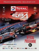 24h Spa-Francorchamps 2011 7/11 Rennprogramm Programmheft F+NL Official Program