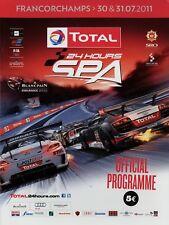 24h Spa-Francorchamps 7/11 2011 Rennprogramm Programmheft F+NL Official Program