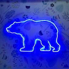 AOOS CUSTOM Polar Bear Dimmable LED Neon Light Signs For Wall Decor