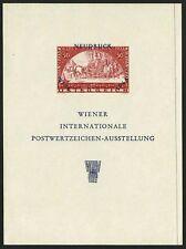 1965 AUSTRIA ÖSTERREICH  WIPA NEUDRUCK FOGLIETTO ESPOSIZIONE PERFETTO