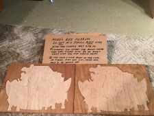 WOODEN PUZZLE, HANDMADE NOAH'S ARK. Rare.