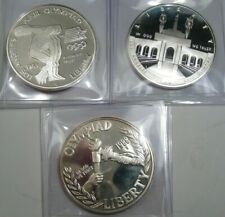 3 Silver Proof Olympic Commem. Dollars. 1983-s, 1988-s, 1984-s. #21
