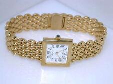 Elegante Quarz-Armbanduhren (Batterie) Massivgold mit 12-Stunden-Zifferblatt