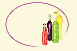 Grandma's Pantry Peelable Bottle Labels, Packs: 20 -100, Sloe Gin, Wine,  New *