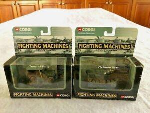 2 Corgi Showcase Collection Fighting Machines: Vietnam War Tank, Tour Duty Jeep