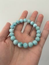 100% Natural Larimar Blue Beads Bracelet, Perfect Condition NOT FAKE
