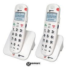 AmpliDECT 260 DUO Geemarc 2x schnurlos Telefon e laut große Tasten Senioren DECT