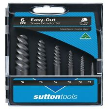 Sutton M603S15A Easy out Screw Extractor Set 10pce Carbon Steel in Case M603S15A