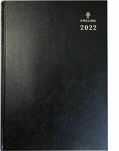 Collins 2022 Day to A Page A4 Black Diary Hardback Cover Office Desk Diary 44E99