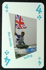 1 x playing card London 2012 Olympic Legends Ben Ainslie Sailing 4C
